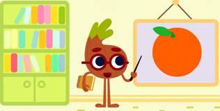 Умная луковка - 12 серия. Учим цвета — оранжевый