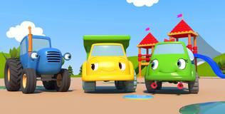 Синий трактор на детской площадке - 11 серия. Солнышко и дождик