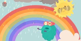 Шоу профессора Бинокса - 12 серия. Как образуется радуга