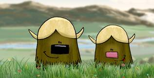 Квадратные зверюшки - 10 серия. Овцебык Милли мирит родителей