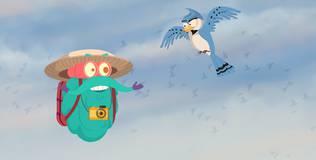 Шоу профессора Бинокса - 81 серия. Перелётные птицы