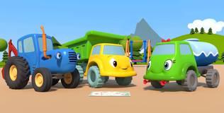 Синий трактор на детской площадке - 18 серия. Карта сокровищ