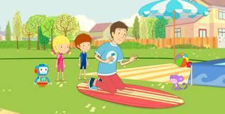 Дейзи и Олли - 23 серия. Можно нам заняться сёрфингом?