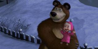 Маша и Медведь. Караоке - 1 серия. Новогодняя песня