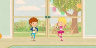Дейзи и Олли. Детские песни - 17 серия. Дождливый день