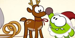 Ам Ням. Новый Год - Как нарисовать оленя?