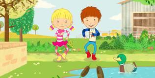 Дейзи и Олли. Детские песни - 4 серия. Старичок на ферме жил