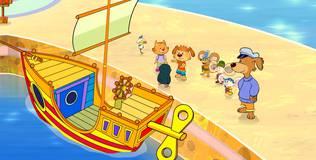 Пип и Альба. Приключения в Солёной бухте - 42 серия. Прыгающая лодка
