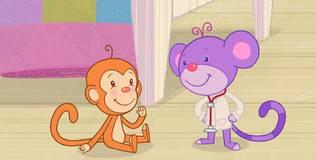 Дейзи и Олли. Детские песни - 12 серия. Пять обезьянок