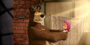 Маша и Медведь. Караоке - 15 серия. Как в кино