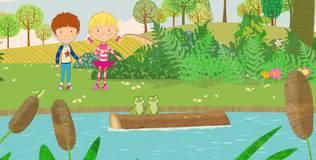 Дейзи и Олли. Детские песни - 13 серия. Пять лягушат