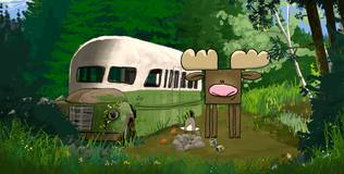 Квадратные зверюшки - 16 серия. Лосёнок Эрнест и автобус
