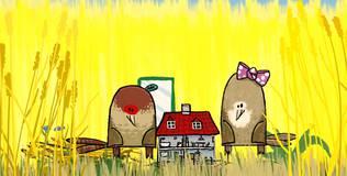 Квадратные зверюшки - 2 серия. Фазан Фидо и аквариум