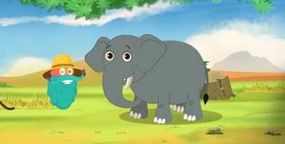 Шоу профессора Бинокса - 71 серия. Слон