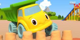 Синий трактор на детской площадке - 19 серия. Гонка