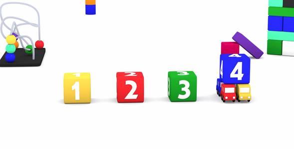 Серия 1. Кубики с цифрами 4 машинки смотреть онлайн