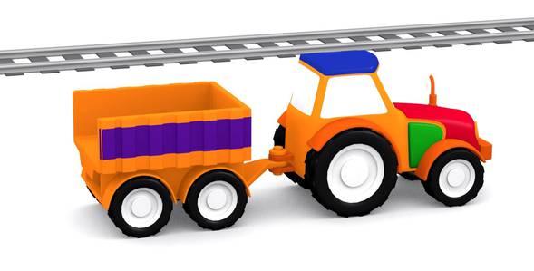 Серия 9. Собираем трактор с прицепом 4 машинки смотреть онлайн
