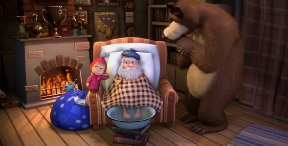 3 серия. Раз, два, три! Ёлочка гори! Маша и Медведь смотреть онлайн