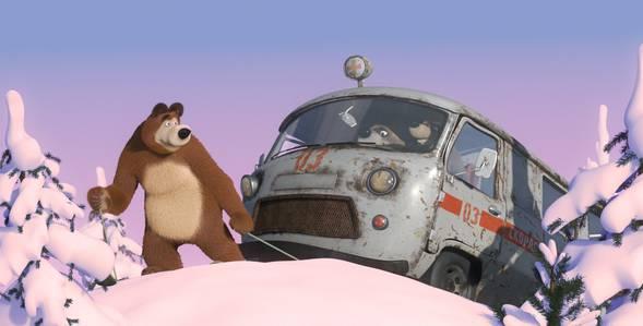 14 серия. Лыжню! Маша и Медведь смотреть онлайн