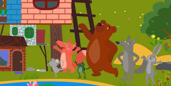 31 серия. Строим теремок Три медведя смотреть онлайн