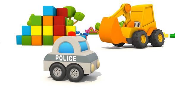 12 серия. Полицейская машина Экскаватор Мася смотреть онлайн