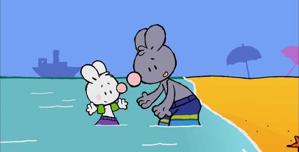 29 серия. Как я впервые плавал под водой Крошка Крольчонок смотреть онлайн