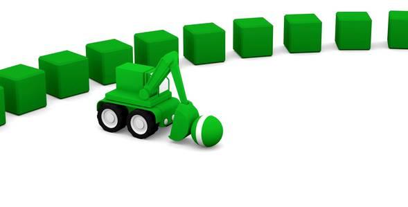 Серия 2. Зелёный экскаватор 4 машинки смотреть онлайн