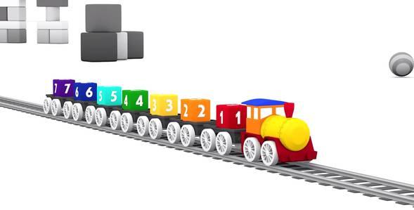 Серия 7. Поезд и 7 кубиков 4 машинки смотреть онлайн