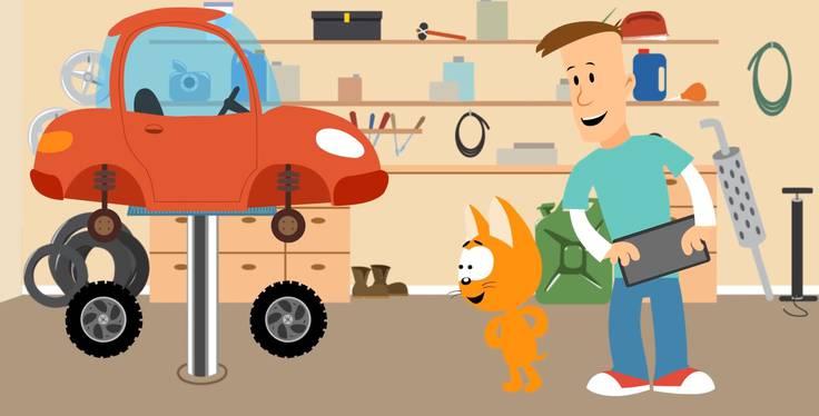 Котёнок и волшебный гараж. Трейлер