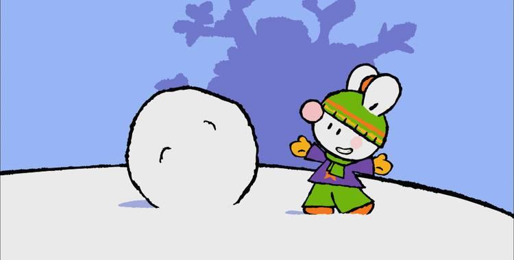 20 серия. Как я впервые слепил снеговика Крошка Крольчонок смотреть онлайн