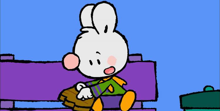 77 серия. Как я в первый раз провёл день у телевизора Крошка Крольчонок смотреть онлайн