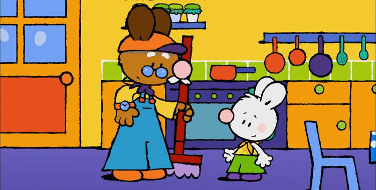 62 серия. Как я в первый раз поймал кузнечика Крошка Крольчонок смотреть онлайн
